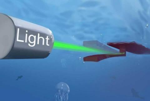 加州大学洛杉矶分校研发光线驱动的OsciBot水中机器人
