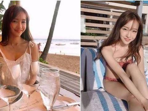 日本女星:AKB48板野友美深U泳衣挖空,转身背全露辣翻