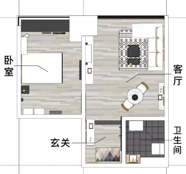 40㎡老式公寓重新大改造,前后对比了一下,才发现差距那么大!