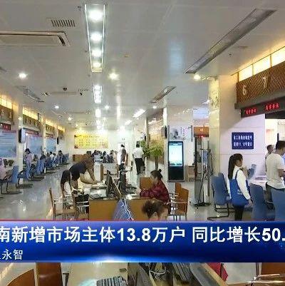前8个月海南新增市场主体13.8万户 同比增长50.7%丨直通自贸港