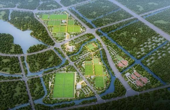 明年开园!上海市民体育公园一期落成 包含50片足球场、25片篮球场[组图]