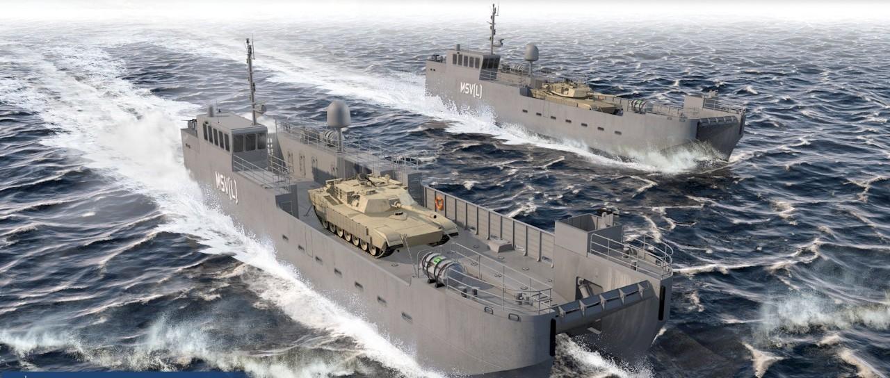 美国陆军开工新型坦克登陆艇