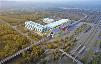 天通苑北枢纽主楼设计为倒F型。公联公司供图