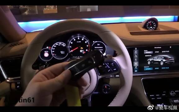 视频:2019保时捷Panamera精致内饰深度体验,车钥匙就已经很美丽了!