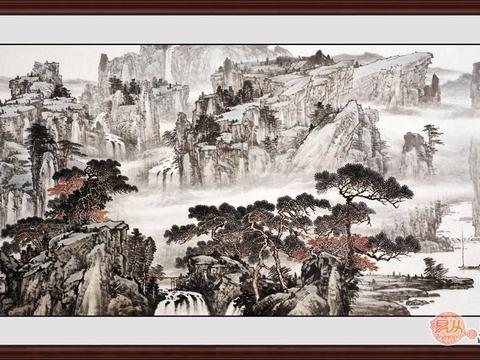 过雨看松色,随山到水源 当代画家林德坤写意山水画欣赏