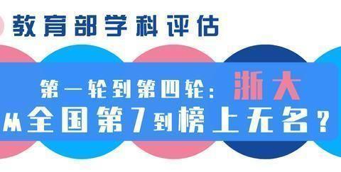 教育部学科评估:第一轮到第四轮,浙大从全国第7到榜上无名?
