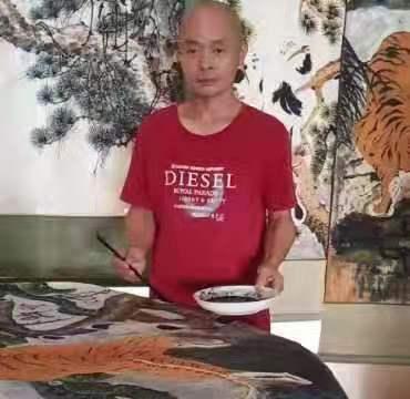 福建省书画家周潮生中国书画家职称评审中一级美术师