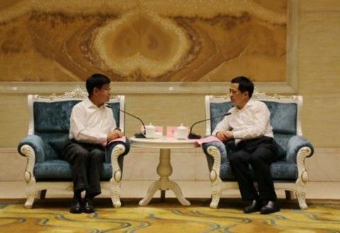 史翔在见中国一重集团党委书记、董事长刘明忠