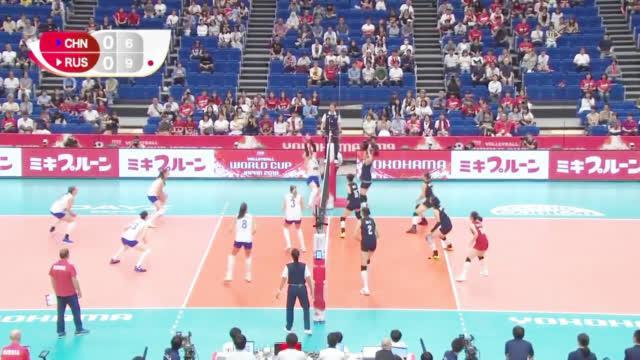 中国女排第一阶段全回顾:中国女排3-0俄罗斯女排集锦
