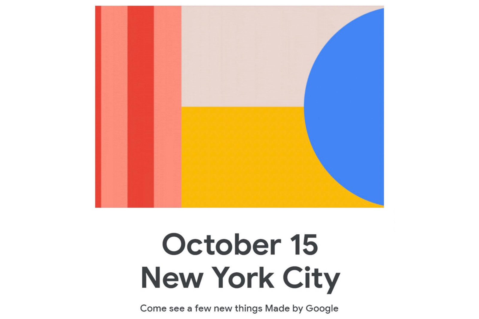 谷歌10月15日举办发布会,Pixel 4系列要来了