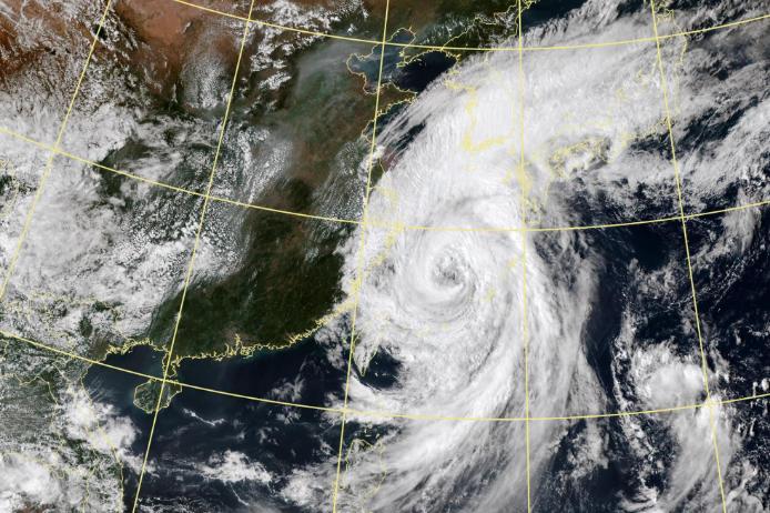21日下午开始 绍兴受到台风塔巴影响 22日凌晨至上午风力最大