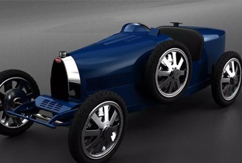 """23.4万元!布加迪的这辆童车居然能以45公里时速上路""""飙车"""""""