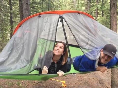 国外发明可悬浮空中的帐篷,承重达到400公斤,搭建起来超级简单