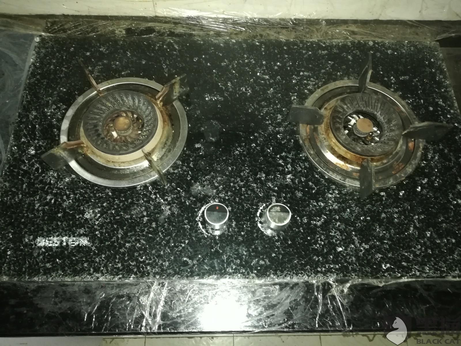 黑猫投诉:百得灶具钢化玻璃面板爆裂