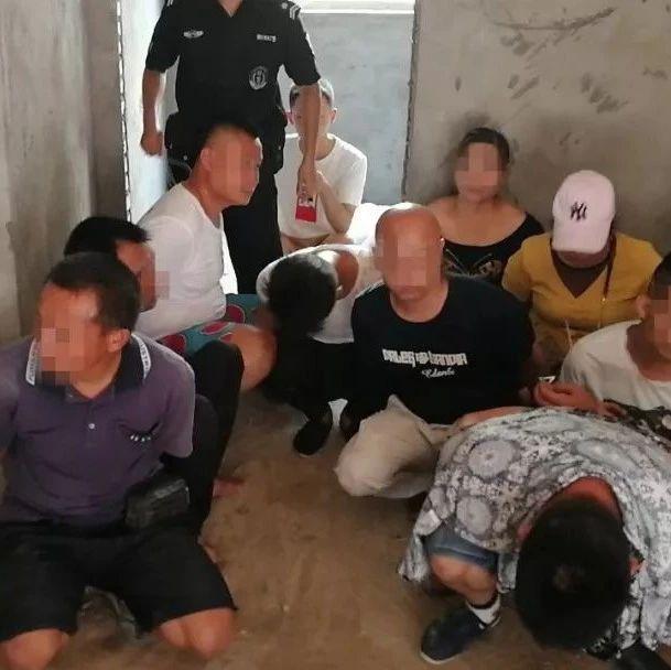 临川在赣鄱霹雳5号行动中端掉一赌博窝点 拘留19人