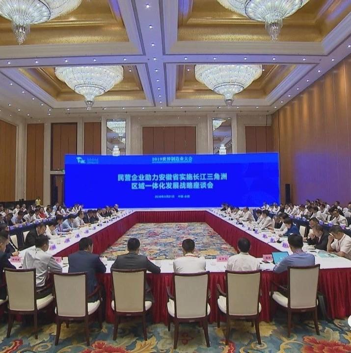 民营企业助力安徽省实施长江三角洲区域一体化发展战略座谈会在合肥举行