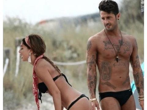 贝伦罗德里格斯与男友海边度假,网友直呼:这是情侣泳装吗?