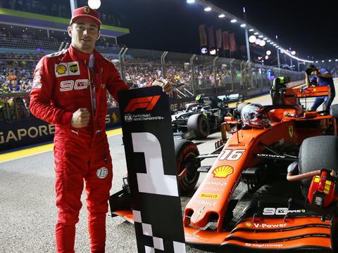 法拉利在新加坡这神奇的杆位,避免了F1在下半赛季进入垃圾时间