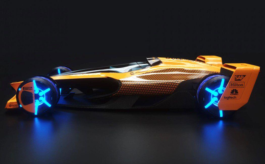 迈凯伦2050年的F1赛车,相当有趣,速度可以达到500码