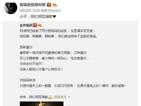 """邹市明冉莹颖三胎儿子随母姓:随母姓竟然成了""""断香火""""?"""