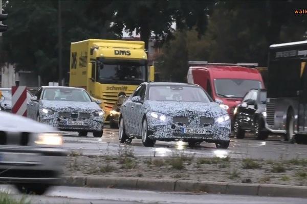 视频:全新一代奔驰C级路试车队,新车将于2020年发布