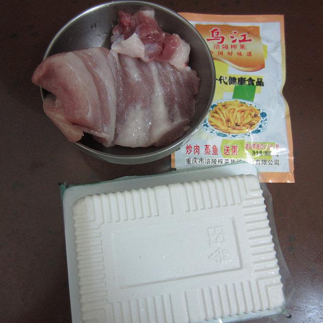 榨菜肉未蒸豆腐,清爽,鲜香,最适合夏天吃