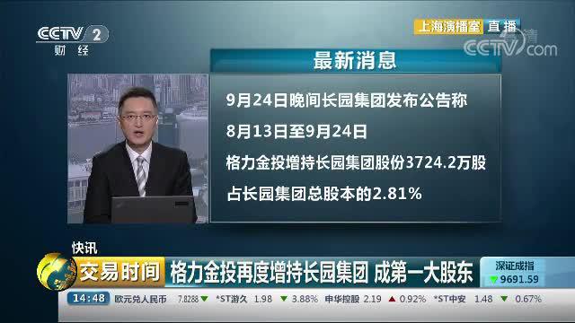 格力金投再度增持长园集团 成第一大股东