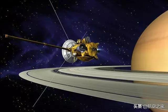 悲壮的土星使者 飞奔20年的卡西尼号探测器飞入土星大气层焚毁