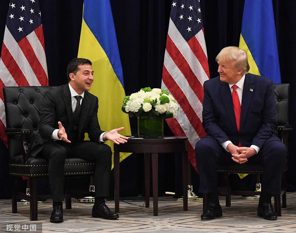 """""""通话门""""后与特朗普会面 泽连斯基表情亮了(图)"""