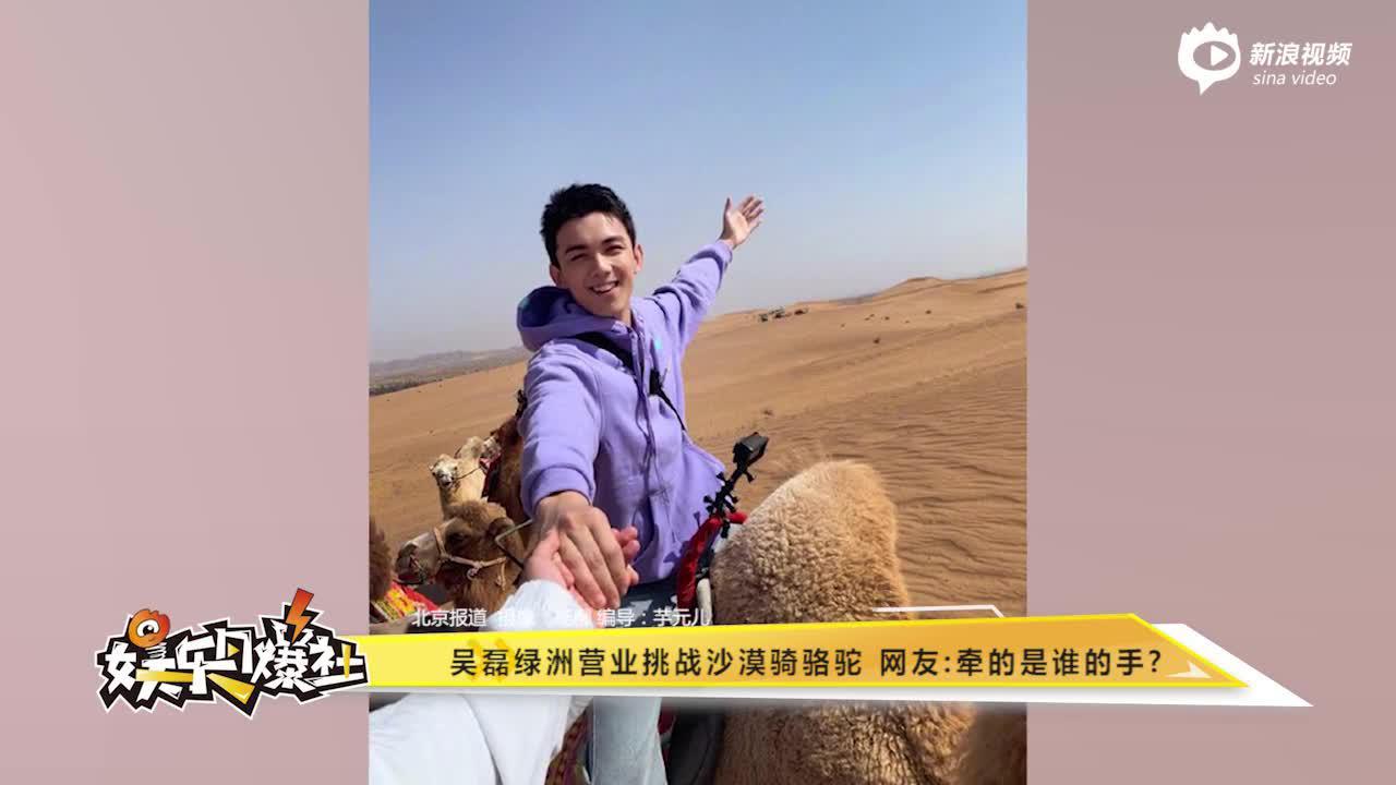 吴磊绿洲营业挑战沙漠骑骆驼网友:牵的是谁的手?