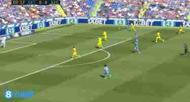 西甲-特狮献助攻朗格莱染红 巴萨2-0赫塔菲客场首胜