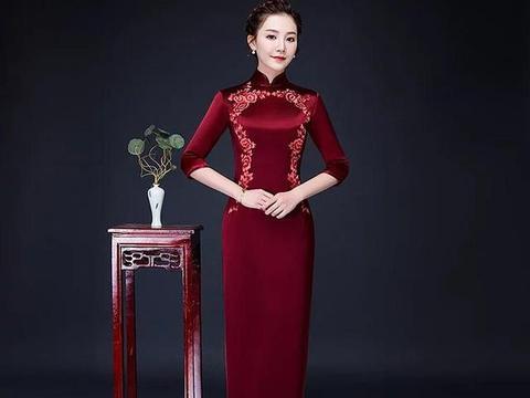 高端刺绣真丝旗袍,量身定制演绎女性高贵美