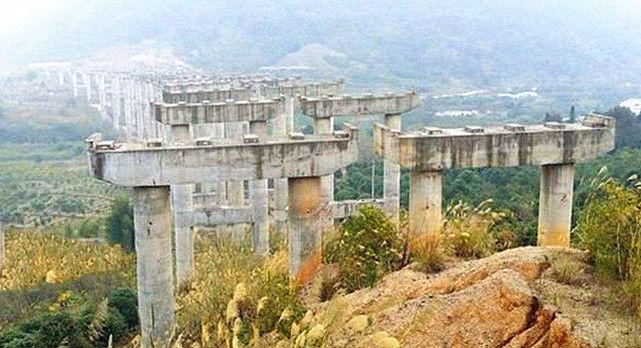 中国耗资47亿修建的大桥,修到一半就停工,如今却青菜遍地!