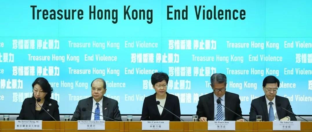 港澳办、中联办、驻港公署回应香港订立《禁蒙面法》