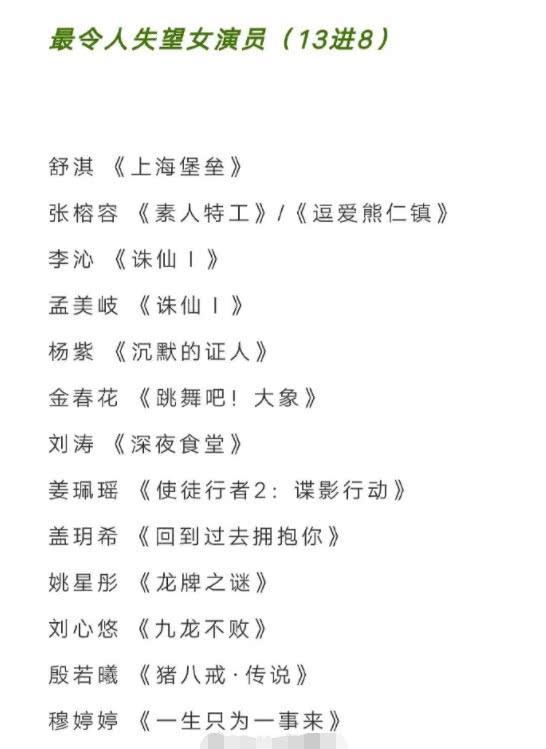 """孟美岐杨紫成金扫帚奖热门人选,肖战""""弯道超车""""鹿晗?"""
