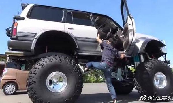 视频:给陆巡换上4个巨轮后,上车的那一刻才知道什么是霸气的开始
