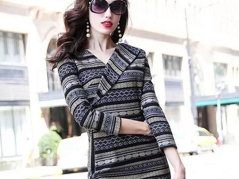 女人再美,别总穿裤装!瞧下面女人:欧版裙+羊毛外套,美胜天仙