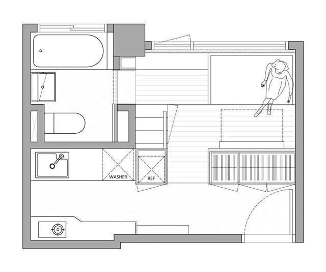 上海奋斗8年买18㎡老房,层高3.4米改造复式,空间设计超精致