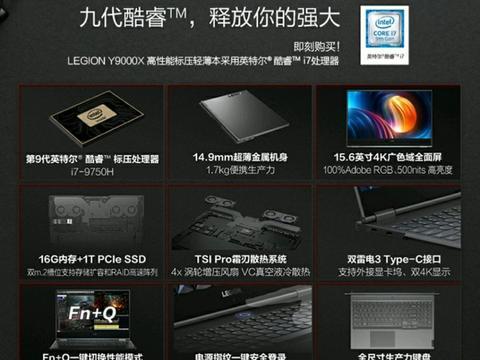联想发布Y9000X轻薄本,搭载英特尔标压处理器和双雷电3接口
