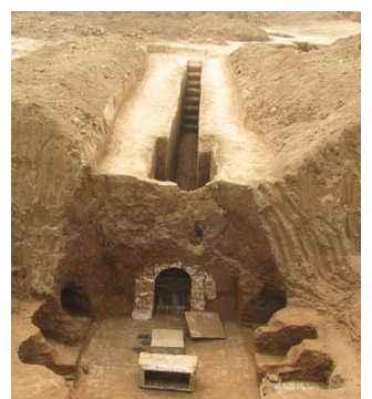 李世民堂侄墓被盗,考古队员气得砸墙壁,结果发现130多件唐三彩