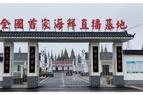 全国首家海鲜直播基地正式落户连云港赣榆宋庄镇!