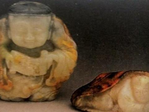 玉人物留皮圆雕——玉雕留皮设计的趣味
