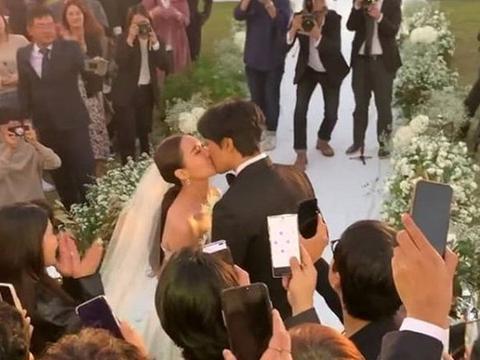 权志龙正装参加姐姐婚礼,权多美与金民俊相拥热吻超浪漫!