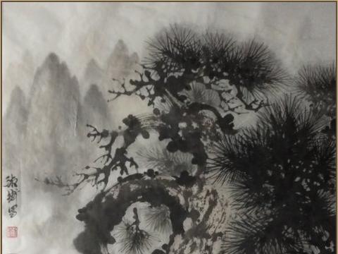 山水画家刘湘衡出版松树作品集