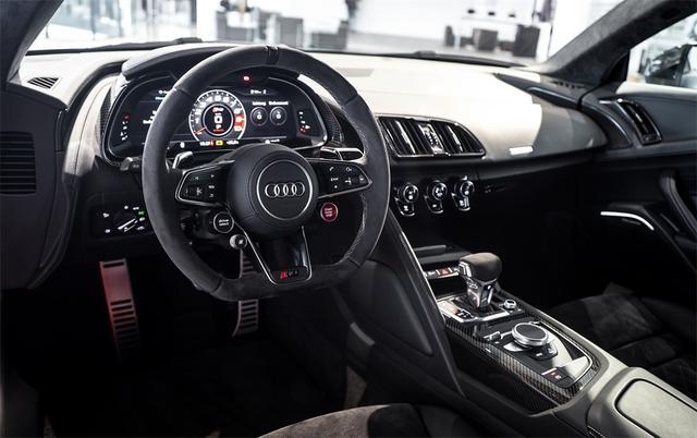 限量版纪念款奥迪R8 V10实拍详解,搭新一代全时四驱平台