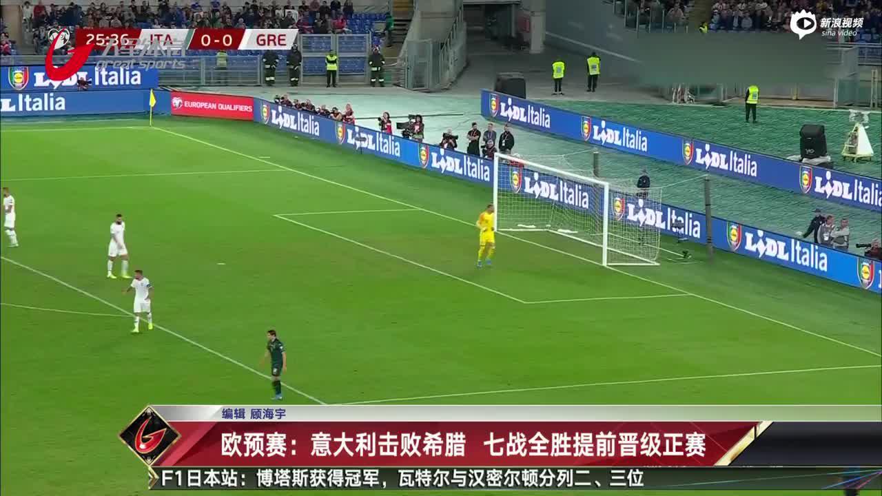 视频-欧预赛:意大利击败希腊 七战全胜提前晋级正赛