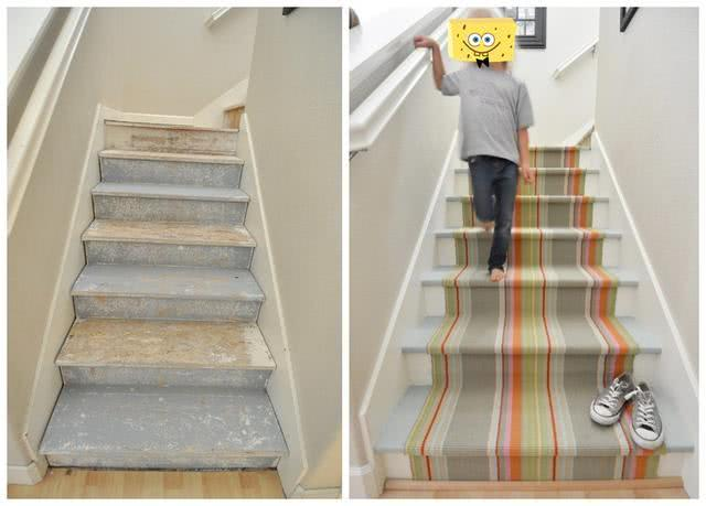 为什么国外都喜欢在楼梯上铺地毯?学着回家装,师傅却说太聪明了