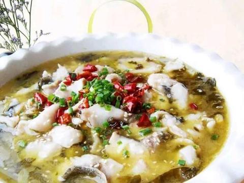 酸菜鱼,酸菜和鱼一起搭配,这是一道好制作的家常菜