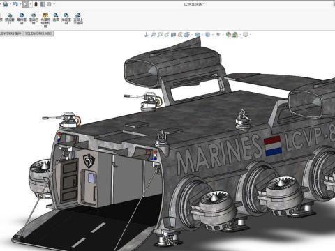 用SolidWorks建模的飞船登陆艇