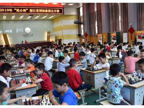 """2019年""""培小杯""""浙江省国际象棋公开赛在越城区培新小学举行"""